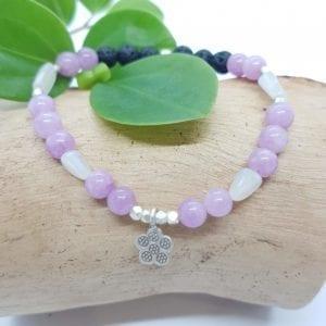 Agate Moonstone Lava Flower Bracelet