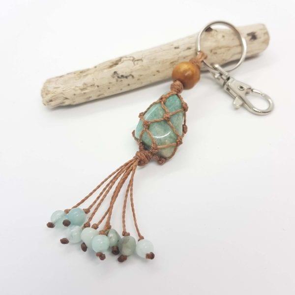 Amazonite Keyring Bag Clip