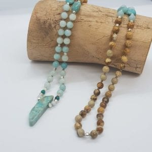 Amazonite & Picture Jasper necklace