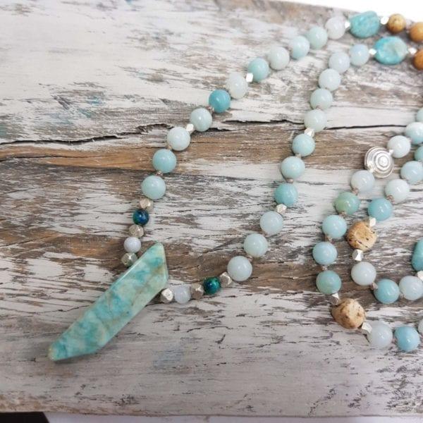 Amazonite & Picture Jasper necklace