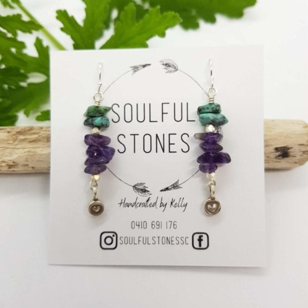 Amethyst Turquoise HTS earrings