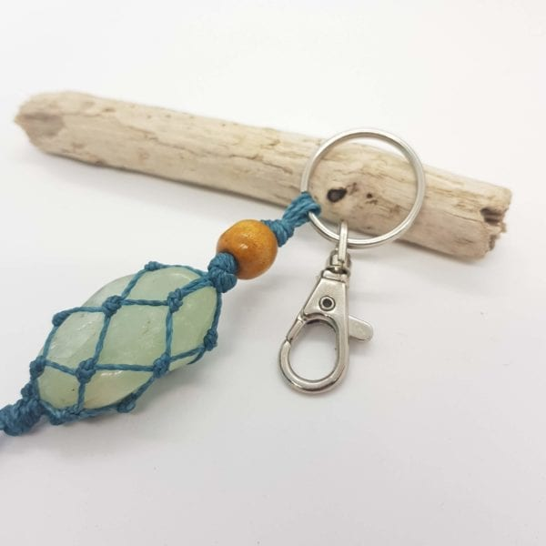 Aquamarine Keyring Bag Clip
