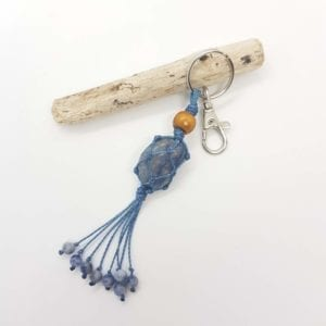 Blue Quartz Keyring Bag Clip