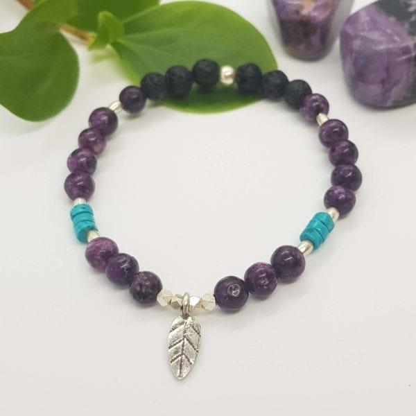 Charoite & Turquoise Howlite Bracelet