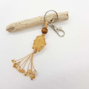 Citrine Keyring Bag Clip