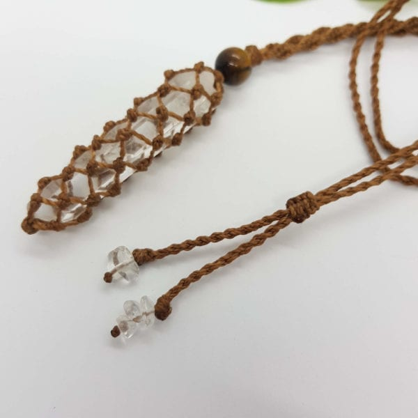 Clear Quartz macrame necklace