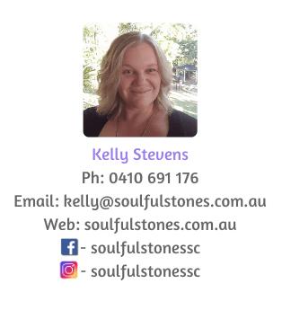 Kelly Stevens Name Block Soulful Stones