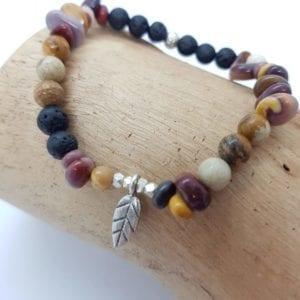 Mookite & HTS Leaf Bracelet