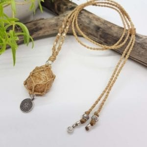 Picture Jasper HTS macrame necklace