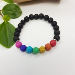 Rainbow Chakra Diffuser Bracelet - Pink