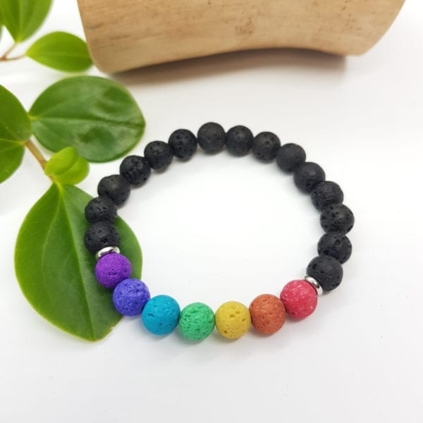 Rainbow Chakra Diffuser Bracelet - Purple