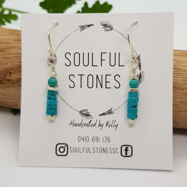 Turquoise Howlite HTS earrings